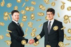 Cryptocurrency i finansowy pojęcie zdjęcia stock