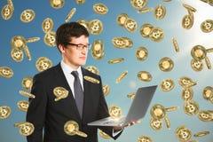Cryptocurrency i finansowy pojęcie fotografia stock