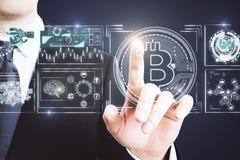 Cryptocurrency i wekslowy pojęcie zdjęcia stock