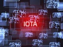 Cryptocurrency IOTA 皇族释放例证