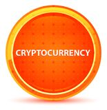 Cryptocurrency Natural Orange Round Button stock illustration