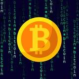 Cryptocurrency lägenhetsymbol, bitcoinsymbol Royaltyfria Bilder