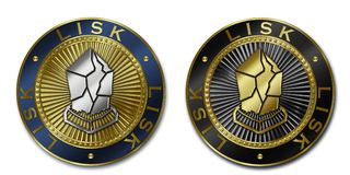 Cryptocurrency LISK coin Stock Photos