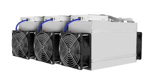 Cryptocurrency mining farm for bitcoin and altcoins mining Royalty Free Stock Photos