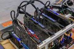 Cryptocurrency Mining Rig Royalty Free Stock Photography