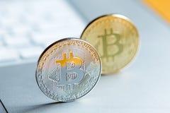 Cryptocurrency mynt Arkivfoton