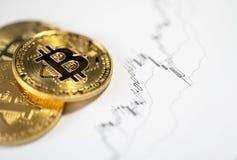 Cryptocurrency numérique de Bitcoin photo libre de droits