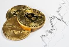 Cryptocurrency numérique de Bitcoin photographie stock libre de droits