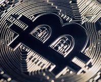 Cryptocurrency numérique de Bitcoin photographie stock