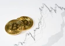 Cryptocurrency numérique de Bitcoin Concept de décentralisation d'argent photos stock