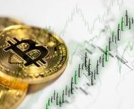 Cryptocurrency numérique de Bitcoin Prix en hausse images stock