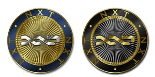 Cryptocurrency NXT coin Stock Image