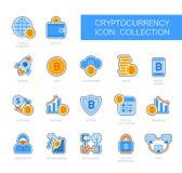 Cryptocurrency och Blockchain symboler Arkivfoton