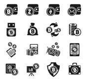 Cryptocurrency och bryta symbolsuppsättningen Arkivfoto