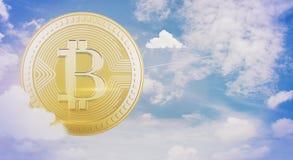 Cryptocurrency och e-kommers begrepp vektor illustrationer