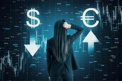 Cryptocurrency och finansbegrepp arkivbilder