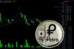 Cryptocurrency Petro della moneta fotografia stock