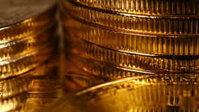 Cryptocurrency physical gold and silver bitcoin stock footage
