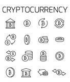 Cryptocurrency related vector icon set. Well-crafted sign in thin line style with editable stroke. Vector symbols isolated on a white background. Simple Stock Photography
