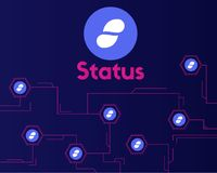 Cryptocurrency status style on dark background. Vector illustration Royalty Free Stock Image