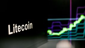Cryptocurrency token. The behavior of the cryptocurrency exchanges, concept. Modern financial technologies. stock photo