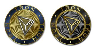 Cryptocurrency TRON coin royalty free illustration