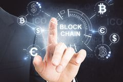 Cryptocurrency und bitcoin Konzept Lizenzfreie Stockfotos