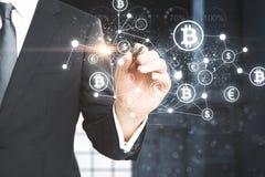 Cryptocurrency und Computerkonzept Stockfoto