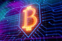 Cryptocurrency und E-Business-Konzept Stockbild