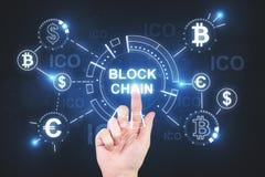 Cryptocurrency und Geldkonzept Stockfotos