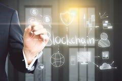 Cryptocurrency und Technologiekonzept Lizenzfreie Stockbilder