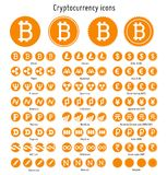 Cryptocurrency vector icons Stock Image