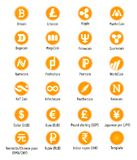 Cryptocurrency vector icons royalty free illustration