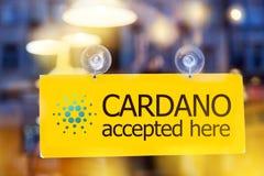 Cryptocurrency virtual de Cardano do dinheiro - C.A. da moeda do ADA de Cardano imagem de stock royalty free
