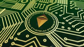 Cryptocurrency virtuale Ethereum video d archivio