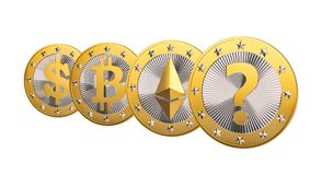 Cryptocurrency - What is the next BIG thing after Bitcoin?? Royalty Free Stock Images