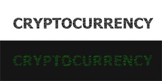 CryptoCurrency word cloud collage. Symbol of digital world and crypto web. Business concept background. Vector Illustration stock illustration