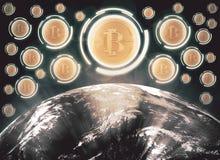 Cryptocurrencyconcept Royalty-vrije Stock Afbeeldingen