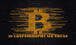 IN CRYPTOGRAFIE DIE WIJ HEBBEN VERTROUWD OP Royalty-vrije Stock Afbeeldingen