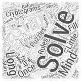 Cryptograms in Mind Puzzles word cloud concept word cloud concept  background Stock Photography