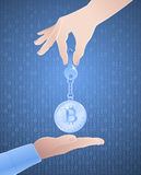 Cryptographic Key Of Bitcoin Royalty Free Stock Images