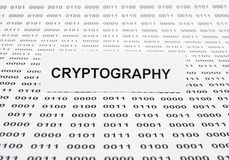 cryptographie photographie stock
