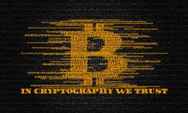 IN CRYPTOGRAPHY WE TRUST Royalty Free Stock Images