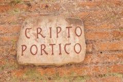 Cryptoporticus του αυτοκράτορα Nero στοκ φωτογραφία με δικαίωμα ελεύθερης χρήσης