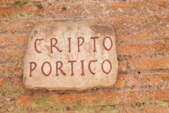 Cryptoporticus of Emperor Nero Royalty Free Stock Photo