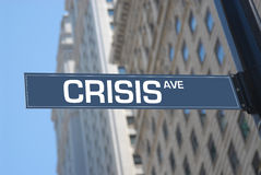 Crysis avenue Royalty Free Stock Photo