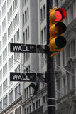Crysis on the way. Symbolic photo from Wall street stock photos