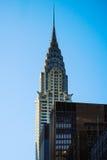 Crysler buduje Nowy Jork Manhattan niebieskiego nieba drapacza chmur szczyt Obraz Royalty Free