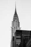 Crysler buduje Nowy Jork Manhattan niebieskiego nieba drapacza chmur szczyt wewnątrz Zdjęcie Stock