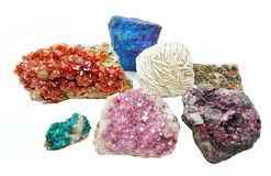 Cryst erythrite ванадинита aragonite кварца Celestite геологохимическое Стоковое Фото
